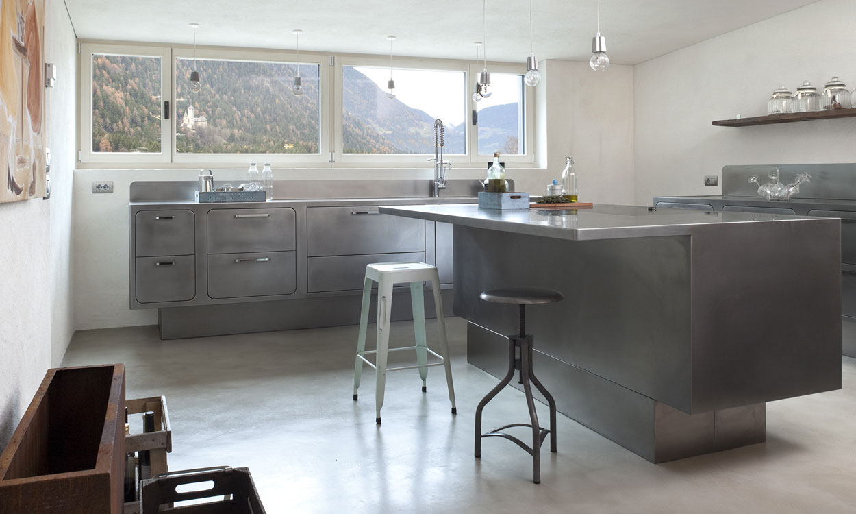 A Bespoke Stainless Steel Kitchen Amid The Peaks Of South Tyrol